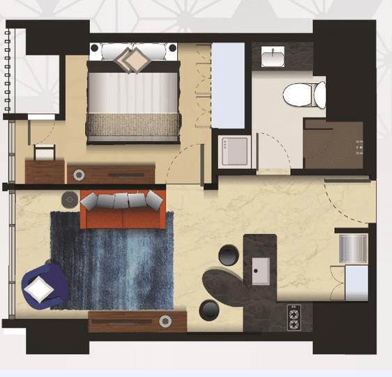 Denah Tipe 1 Bedroom